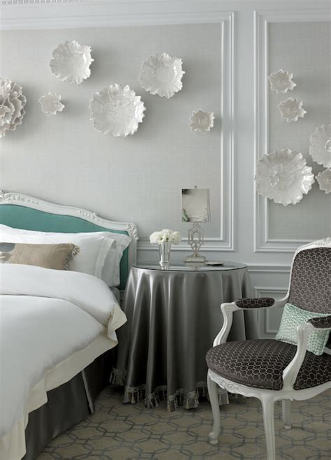 tiffany blue and grey bedroom tiffany blue headboard transitional bedroom the st