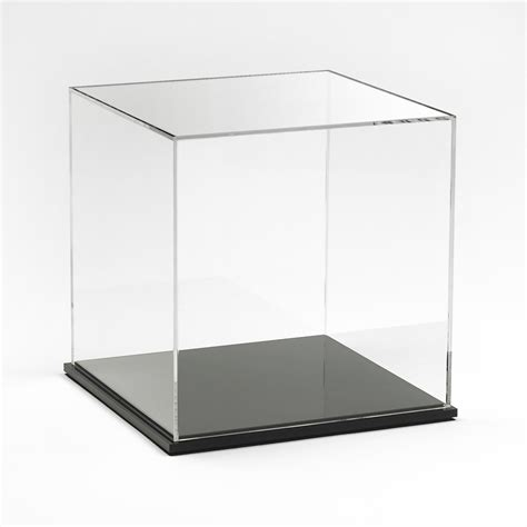Acrylic Box acrylic display box 8 quot x 8 quot x 8 quot with black base buy