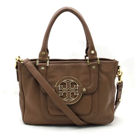 Toryburch Toryburch Original 10 10 auth burch handbag brown leather 12129695