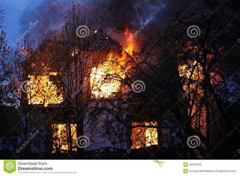 house burning down house burning down stock images image 36643754