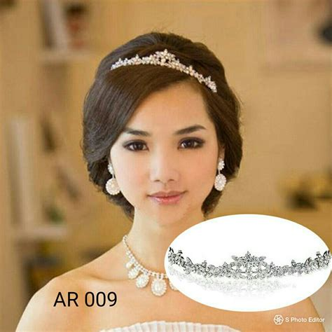 mahkota tiara pesta ar 009 jual model sanggul modern