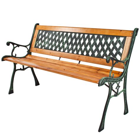 wood and cast iron garden benches wooden garden bench seat with cast iron legs wood