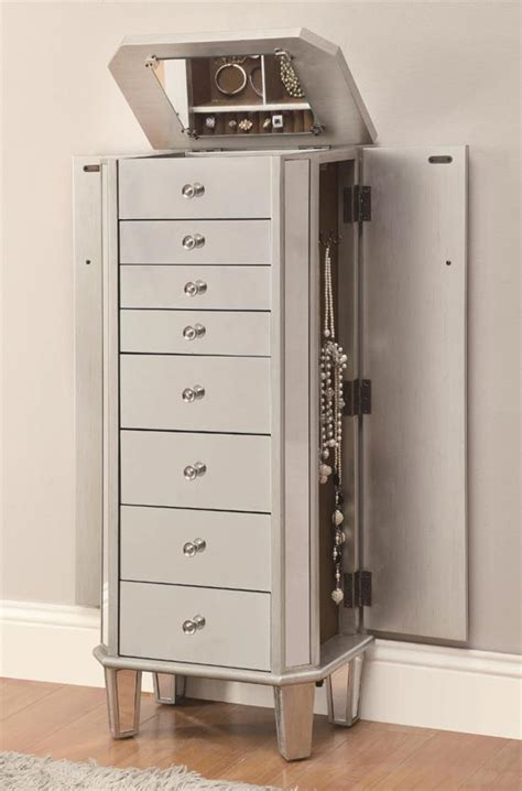 jewelry armoire antique jewelry armoire in antique silver
