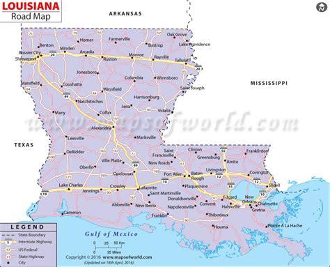 map of louisiana usa louisiana road map louisiana highway map