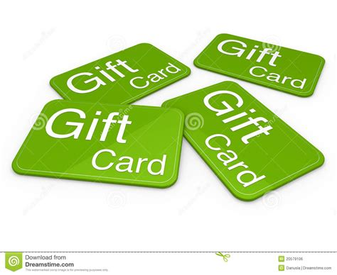 Gift Card From - 3d gift card green royalty free stock image image 20579106