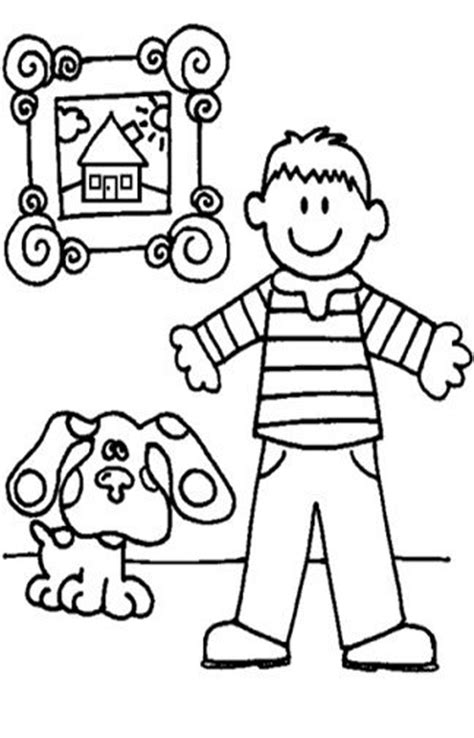 coloring pages to print free printable blues clues coloring pages for