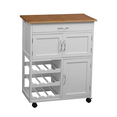 kitchen island trolley interiors online white kitchen trolley with 3 cupboards and shelves at