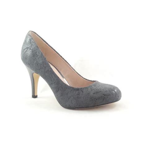 gray patterned heels lotus clancy 50825 grey floral print court shoe lotus