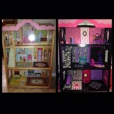 make monster high doll house monster high custom dollhouse made from a bookcase monster high doll houses