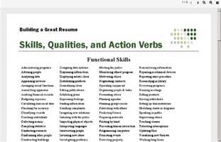 active resume verbs
