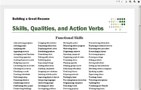 verbs for resumes out of darkness