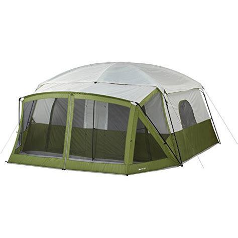 Ozark trail 12 person cabin tent with screen porch green