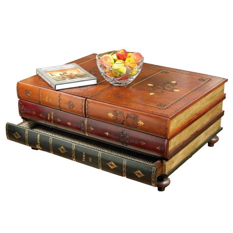 Coffee Table That Looks Like A Stack Of Books Leather Books Table Cabinets Cupboards Cabinets Bookcases Chests Furniture