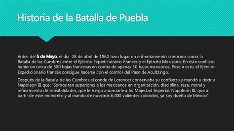 Historia De La Batalla De Puebla Del 5 De Mayo Con Cela   historia de la batalla de puebla del 5 de mayo