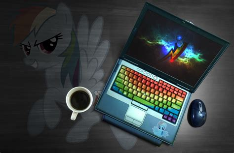 2013 2014 Computer Desk rainbow dash laptop wallpaper by ryuuichi shasame on