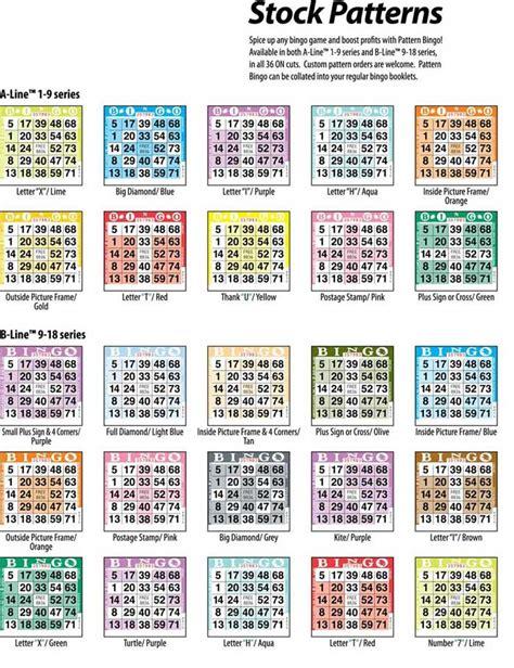pattern bingo games 4 corners bingo pattern