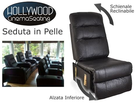poltrone per home cinema seduta poltrona in pelle componibile home