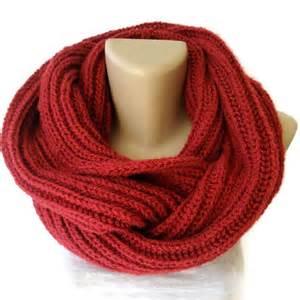 Winter Infinity Scarf Knit Scarf Winter Scarf Knit Infinity Scarf By