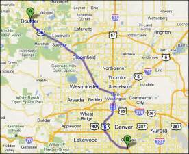 Boulder Colorado Map by Boulder Colorado Megalopolis