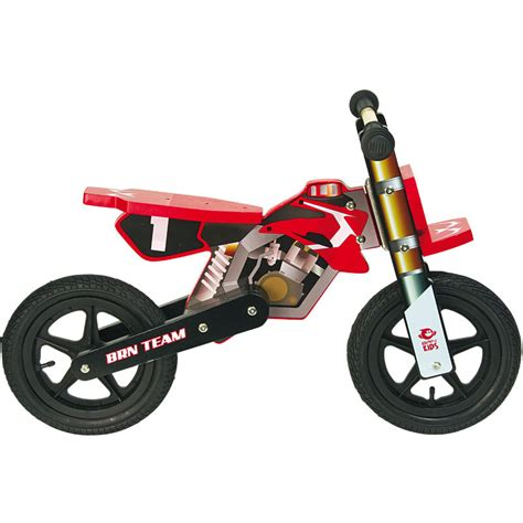 motocross balance bike balance bike motocross wood boy red brn bernardi bikes