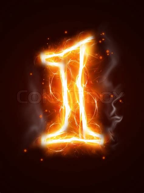 Fiery Numbers Stock Photos Images Fiery Number 1 One Of The Collection Stock Photo Colourbox