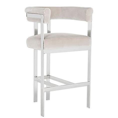 velvet bar stool covers safavieh couture aluna bar stool with velvet cushions