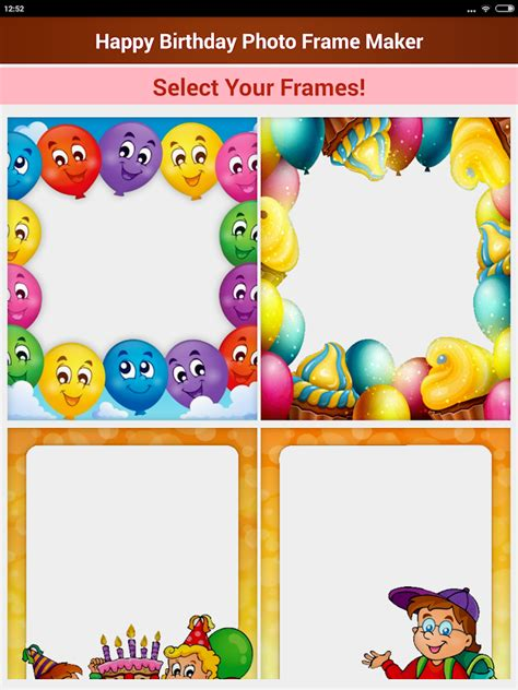 birthday frames android apps on happy birthday photo frames android apps on play