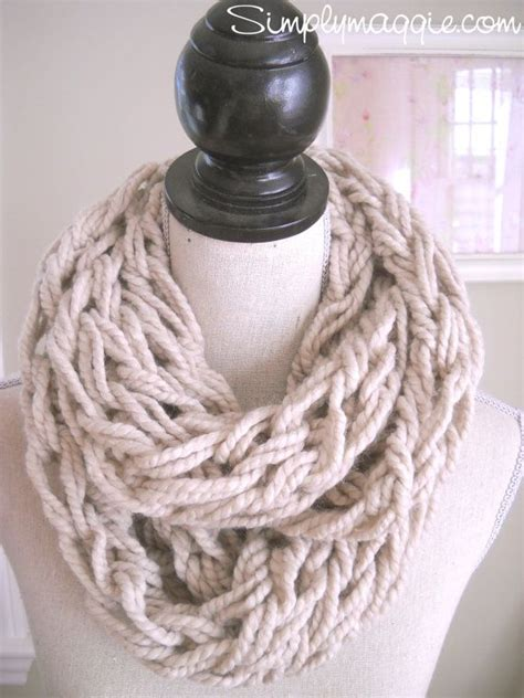 arm knitted infinity scarf taupe arm knit infinity scarf to make