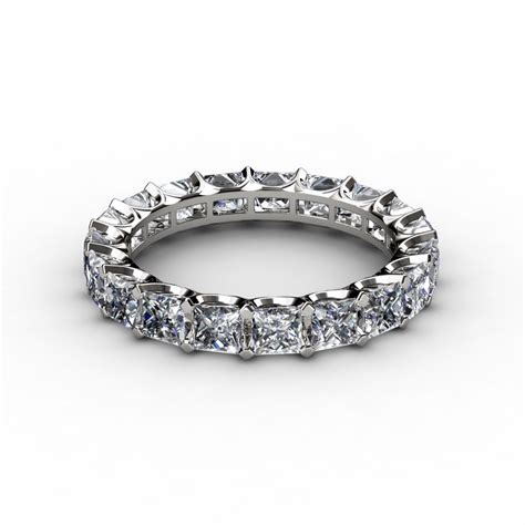 4 50 ct princess cut u prong eternity anniversary ring