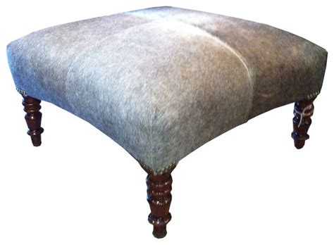 cowhide ottoman traditional footstools and ottomans