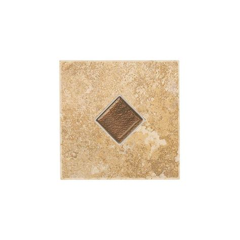 daltile deco tuscany gold 6 1 2 in x 6 1 2 in procelain accent tile mr1166decocc1p the home
