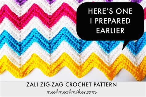 Zig Zag Crochet Pattern Step By Step   tutorial zali zig zag chevron crochet pattern meet