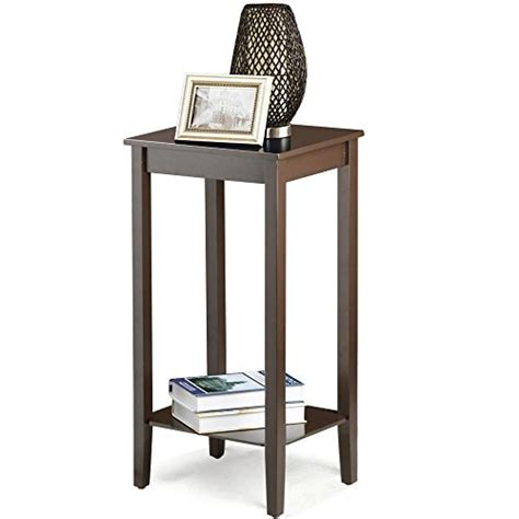 tall side tables bedroom topeakmart wood coffee table tall bedside nightstand