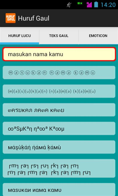 aplikasi untuk membuat tulisan online aplikasi huruf gaul untuk rubah teks bbm dengan huruf lucu