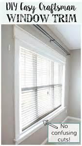 installing blinds on trim remodelaholic diy easy craftsman window trim