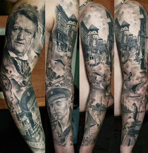 tattoo family photography phenominal portrait sleeve by den yakovlev incredible