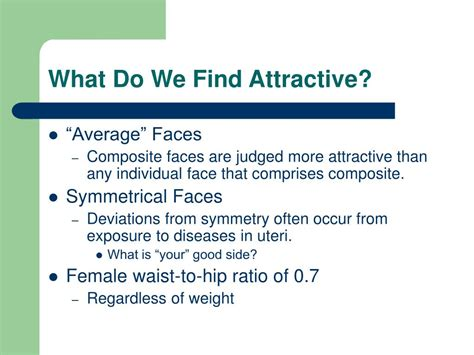 What Do Find Attractive What Do Find Attractive In Researchers Find Who Live In The Country Prefer