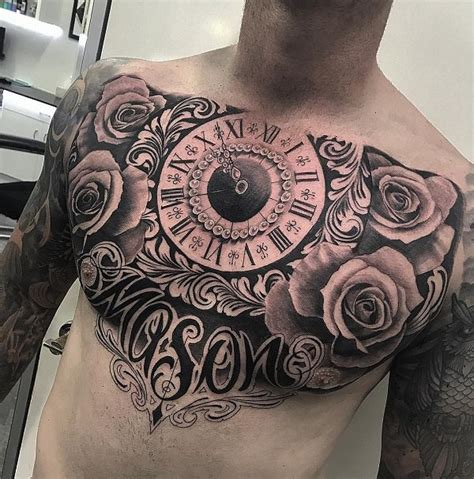 rose tattoos on chest chest tattoos for roses www pixshark images