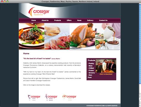 web cuisine pallas foods website design
