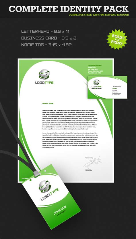 corporate identity psd pack 4 free psd files