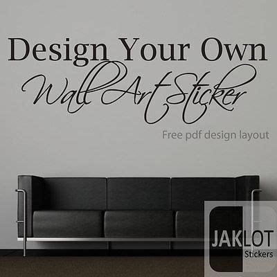 personalised wall stickers quotes your own custom wall text quote vinyl sticker transfer ebay