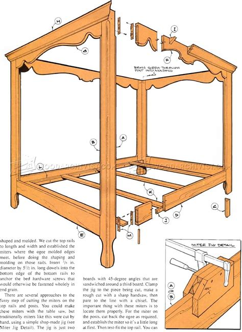 bed plans four poster bed plans woodarchivist