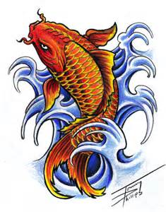 koi fish drawing color koi fish design by tommyphillips on deviantart