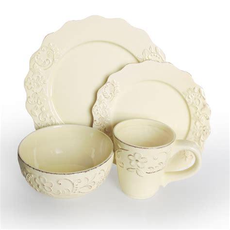 american atelier bianca petals 16 piece dinnerware set cream 1567010 ebay