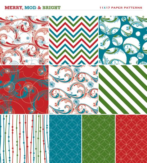 printable christmas themed paper merry mod bright holiday party free printables