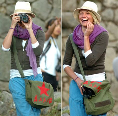 Cameron Diaz Offends Peruvians by Cameron Diaz Mao Bag And A Row In The Land Of The