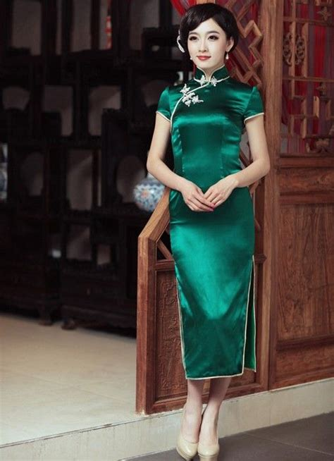 Vintage Silk Cheongsam Import Green Hasio 1000 images about fashion qipao on cheongsam modern dresses and
