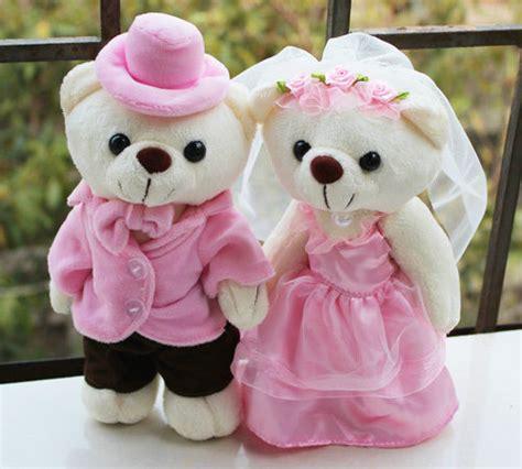 Teddy Wedding L pink standing wedding teddy stuffed animals