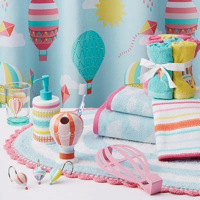 girls bathroom collections i love this hot air balloon theme for a bathroom twin s