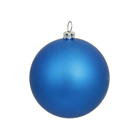 blue ball ornaments 2 75 quot matte set of 12
